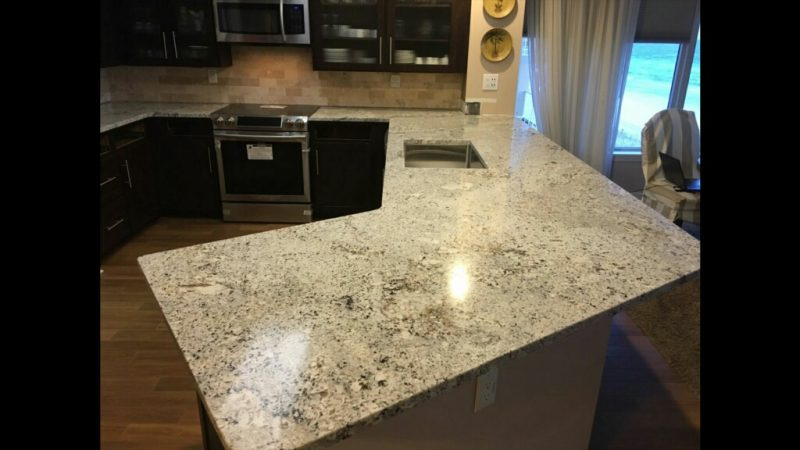 After Kitchen Countertop Remodel with Absolute White Granite