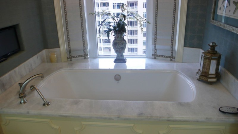 One Water Place @Kelly Plantation- Crystal White Quartzite