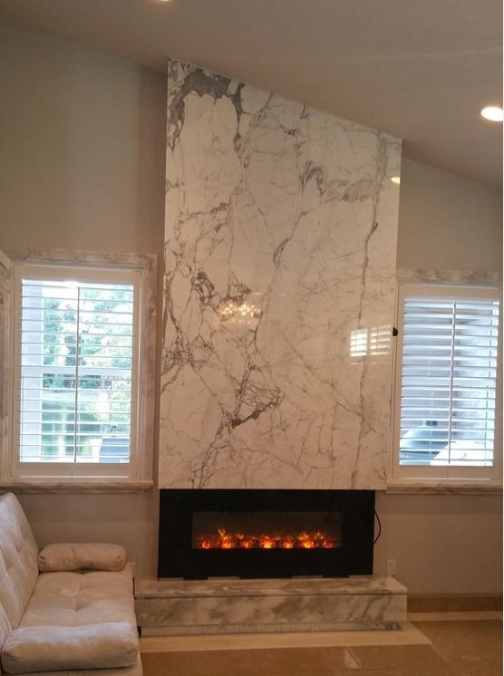 Emerald Lakes - Fireplace in Statuary Marble